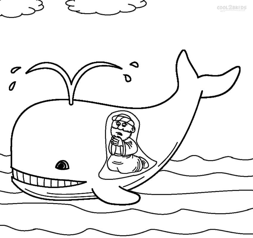 coloring printable jonah and the whale cute coloring pages of jonah and the whale free the whale printable jonah and coloring