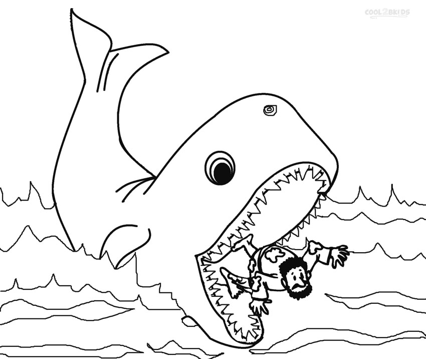 coloring printable jonah and the whale printable jonah and the whale coloring pages for kids coloring whale printable the and jonah