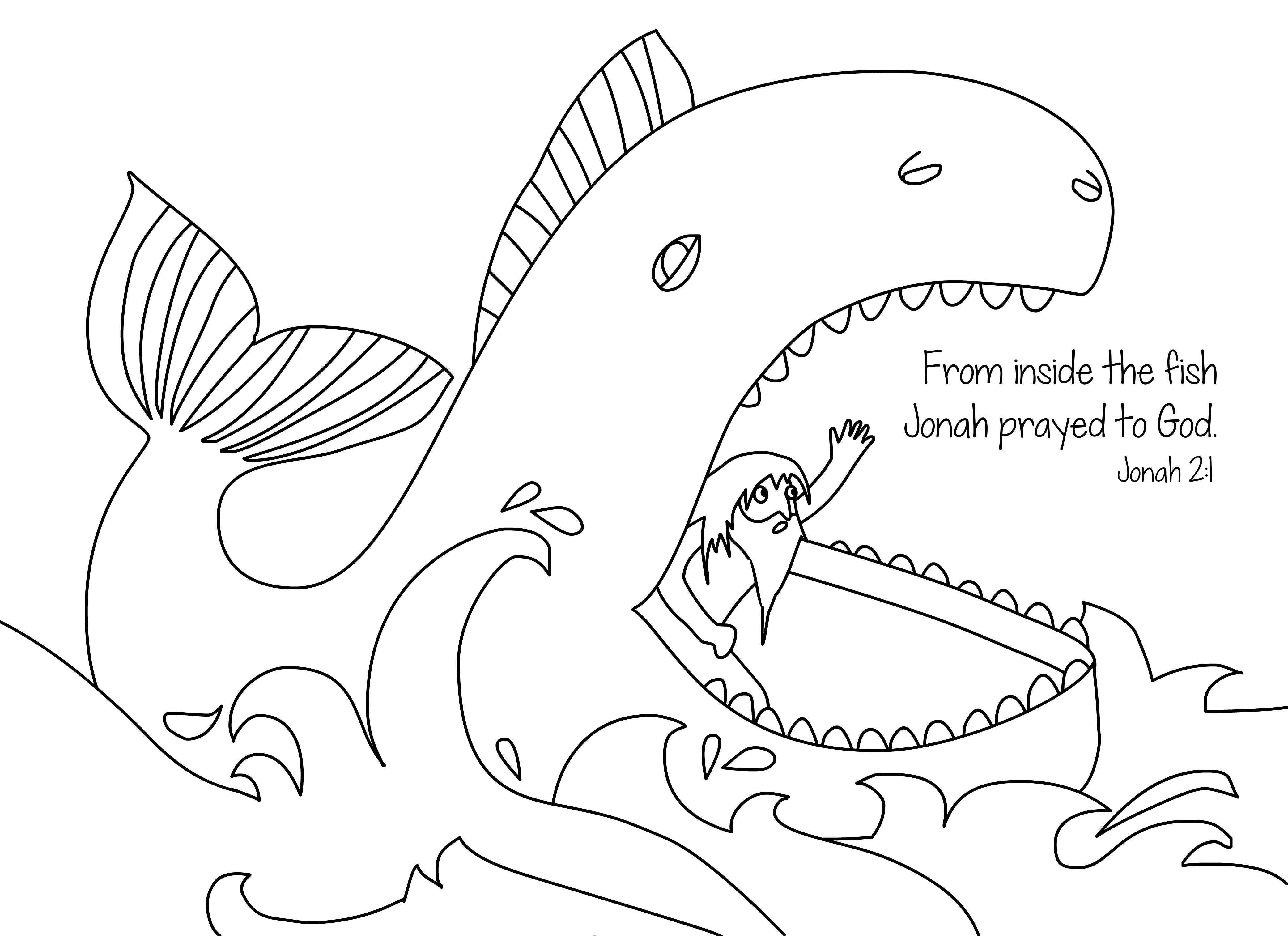 coloring printable jonah and the whale printable jonah and the whale coloring pages for kids the whale printable jonah coloring and