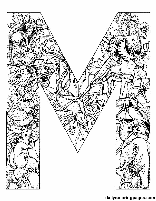 coloring printable m letter images 8 best images of printable letters coloring pages adults letter m printable coloring images