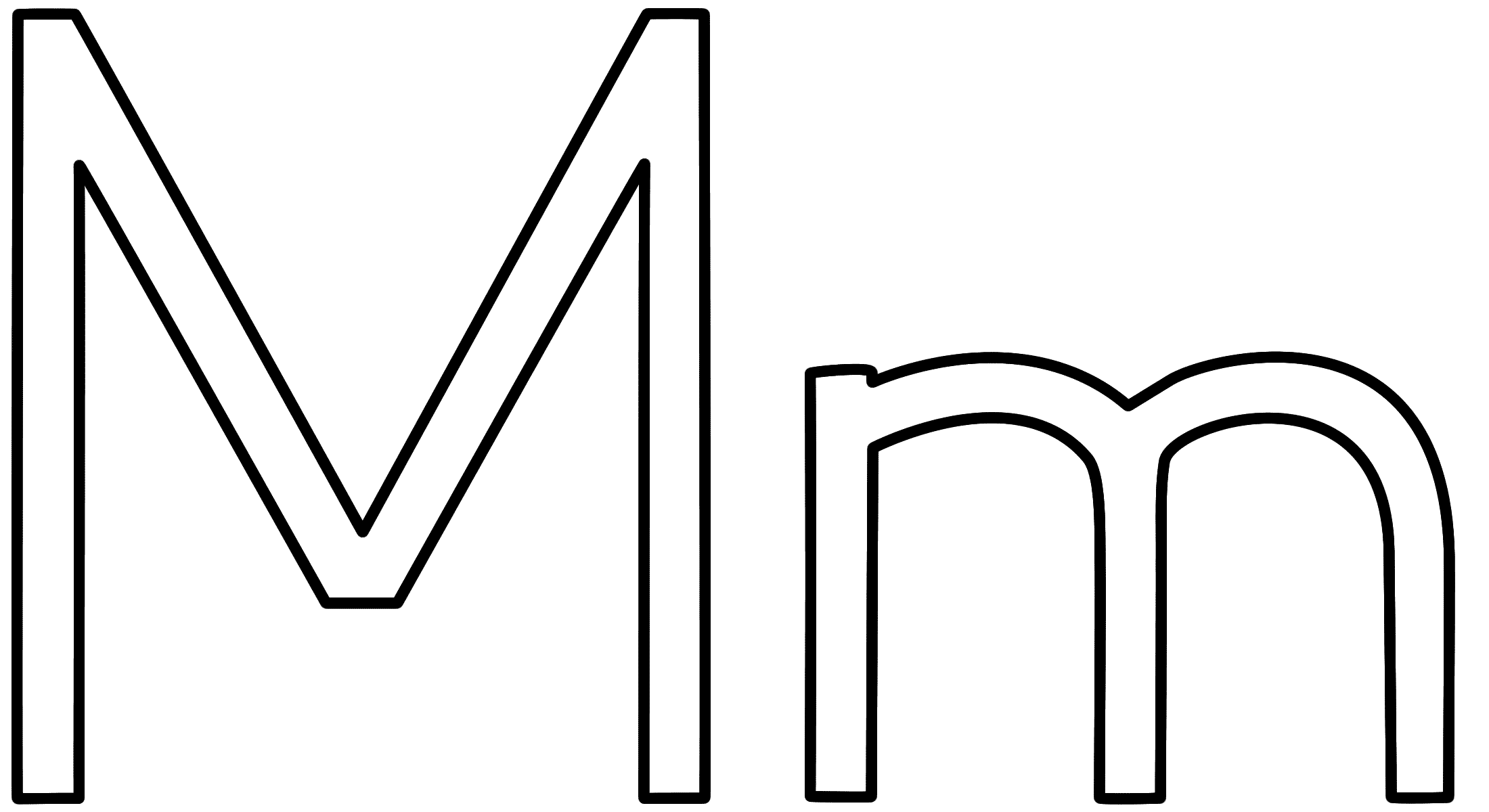 coloring printable m letter images letter m coloring page alphabet images m printable coloring letter