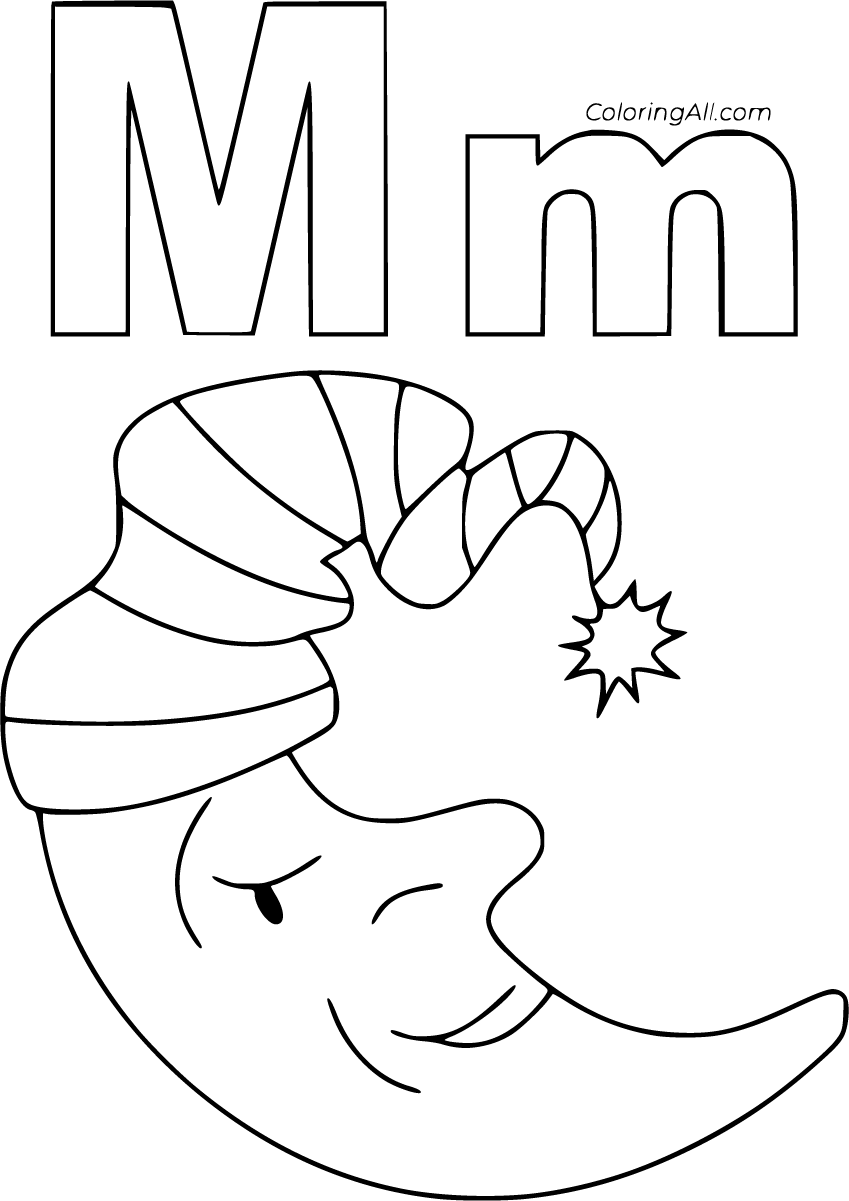 coloring printable m letter images letter m coloring pages coloringall images letter m printable coloring