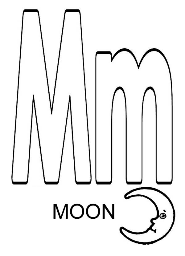 coloring printable m letter images letter m for moon coloring page download print online coloring printable m images letter