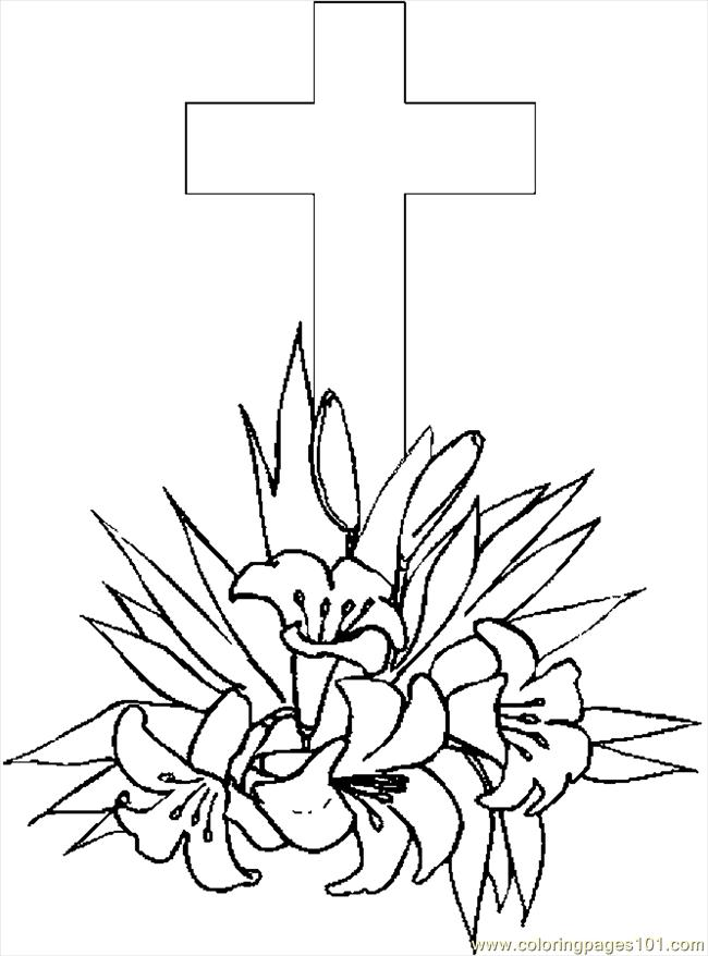 coloring sheet cross coloring pages cross lilies 4 coloring page free holidays coloring coloring sheet cross coloring pages