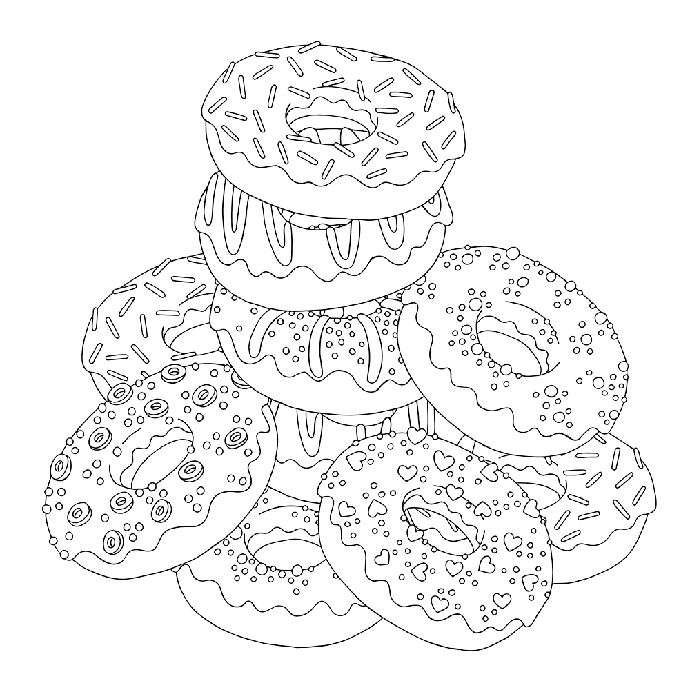 coloring sheet donut donut coloring pages coloring pages to download and print donut sheet coloring
