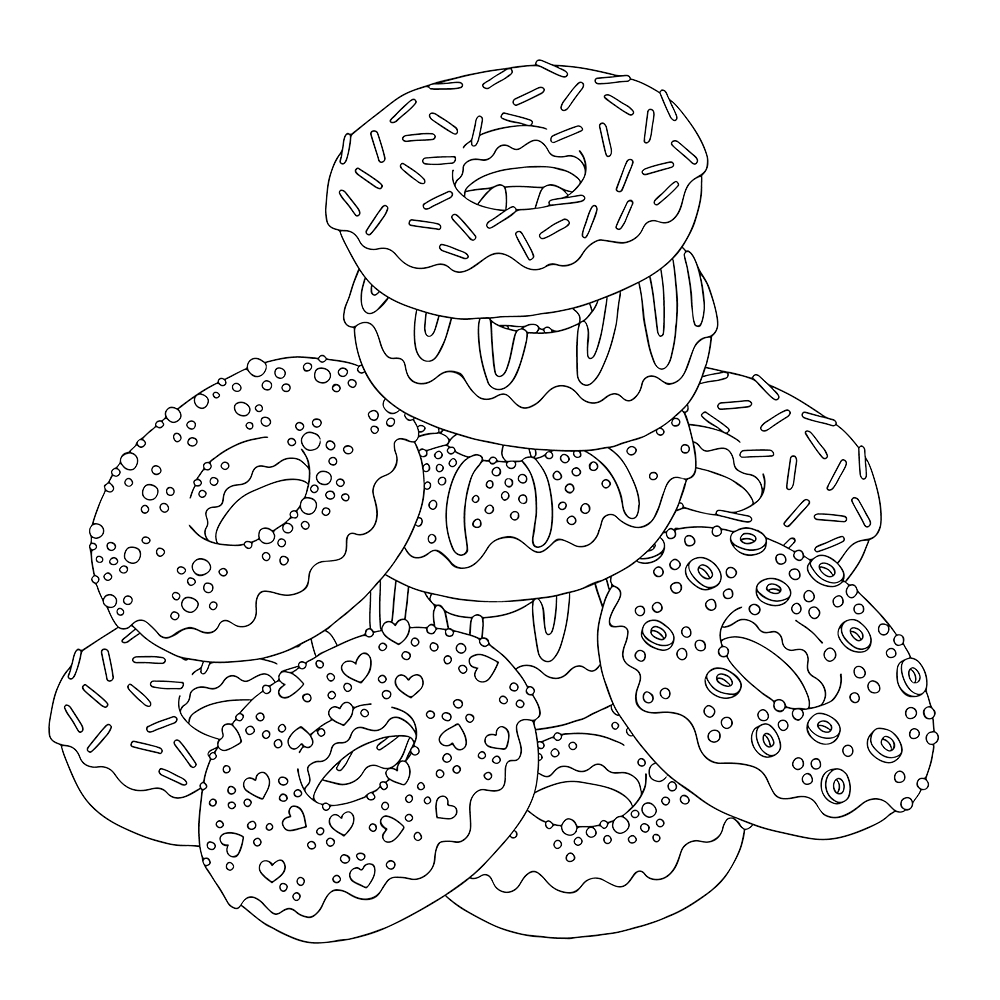 coloring sheet donut top 10 donut coloring pages for your toddler coloring donut sheet