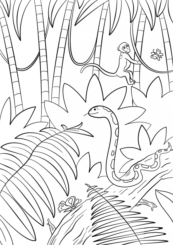 coloring sheets jungle jungle coloring pages download and print jungle coloring sheets jungle coloring