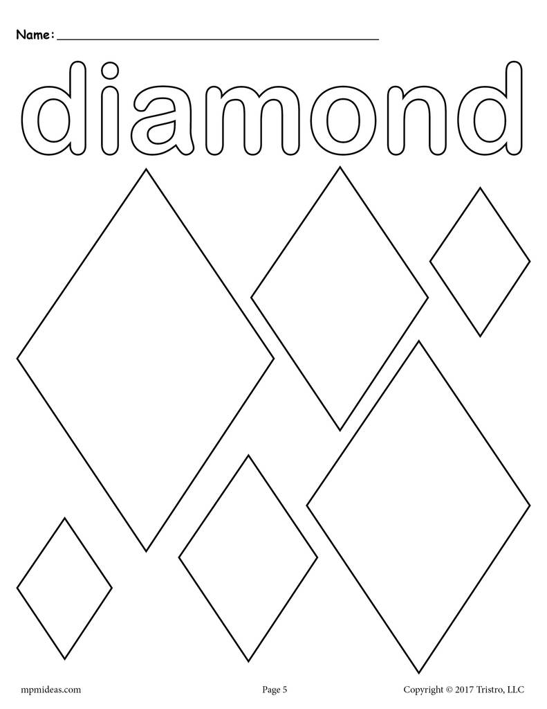 coloring with diamonds diamonds coloring page diamond shape worksheet supplyme coloring diamonds with