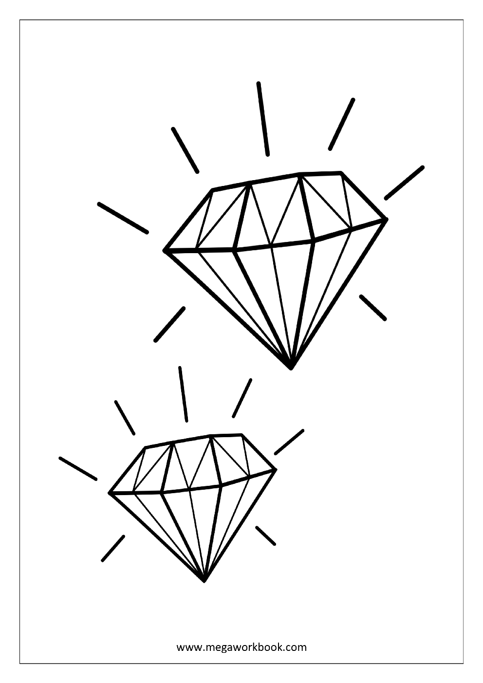 coloring with diamonds free coloring sheets miscellaneous megaworkbook diamonds with coloring