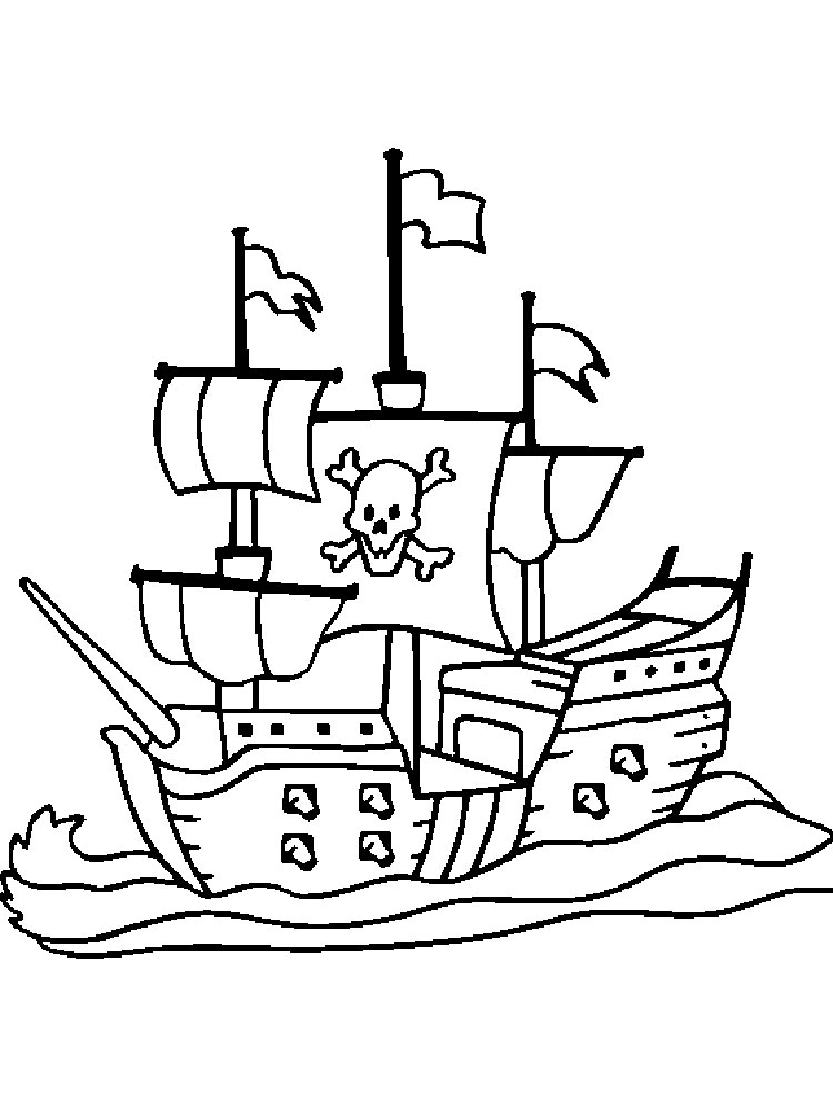 colour in pirate ship pirate coloring pages in ship colour pirate