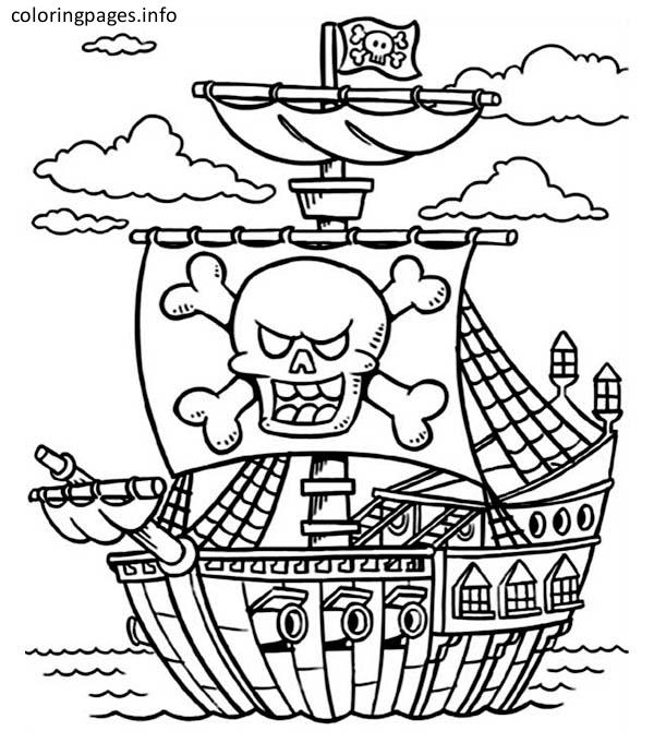 colour in pirate ship pirate ship line drawing at getdrawings free download colour ship pirate in