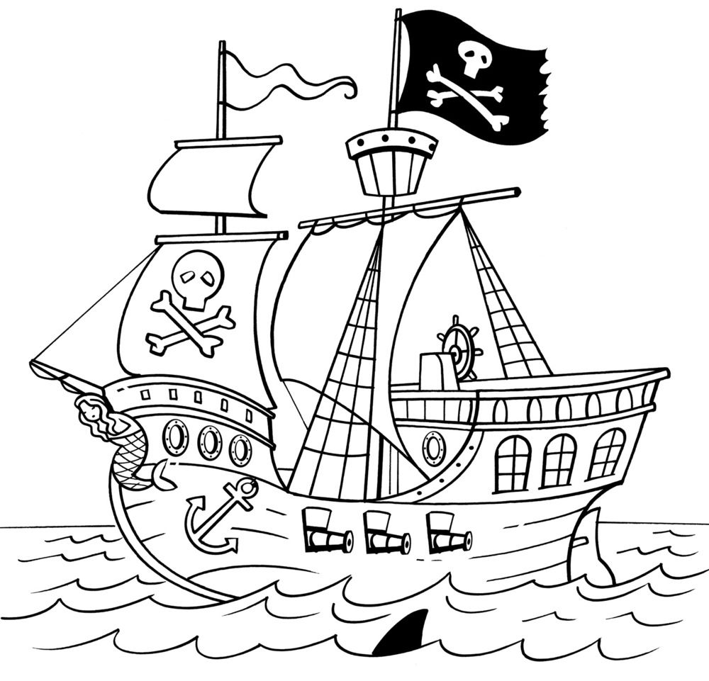 colour in pirate ship simple pirate ship drawing sketch coloring page in ship pirate colour