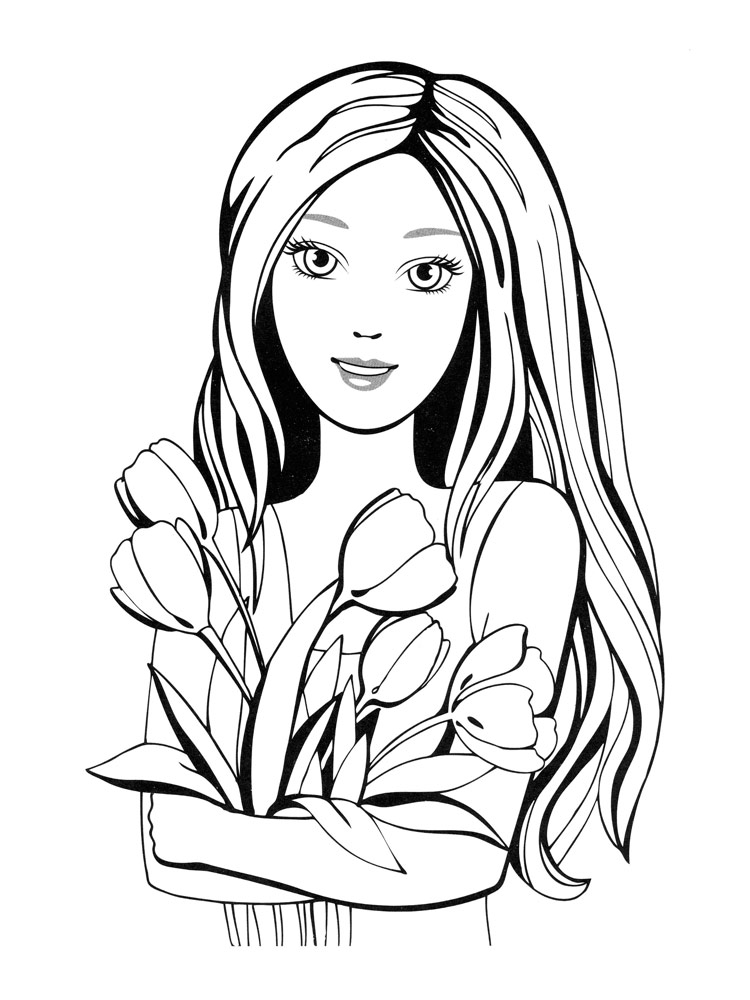 colouring pictures girls download little girl coloring for free designlooter 2020 pictures colouring girls