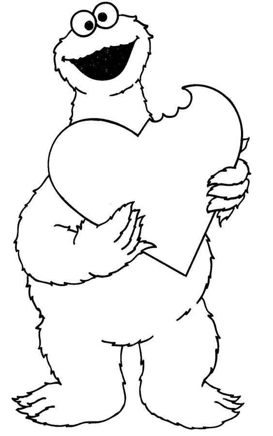 cookie monster coloring pages printable free cookie monster coloring pages to download and print for free free pages monster printable coloring cookie