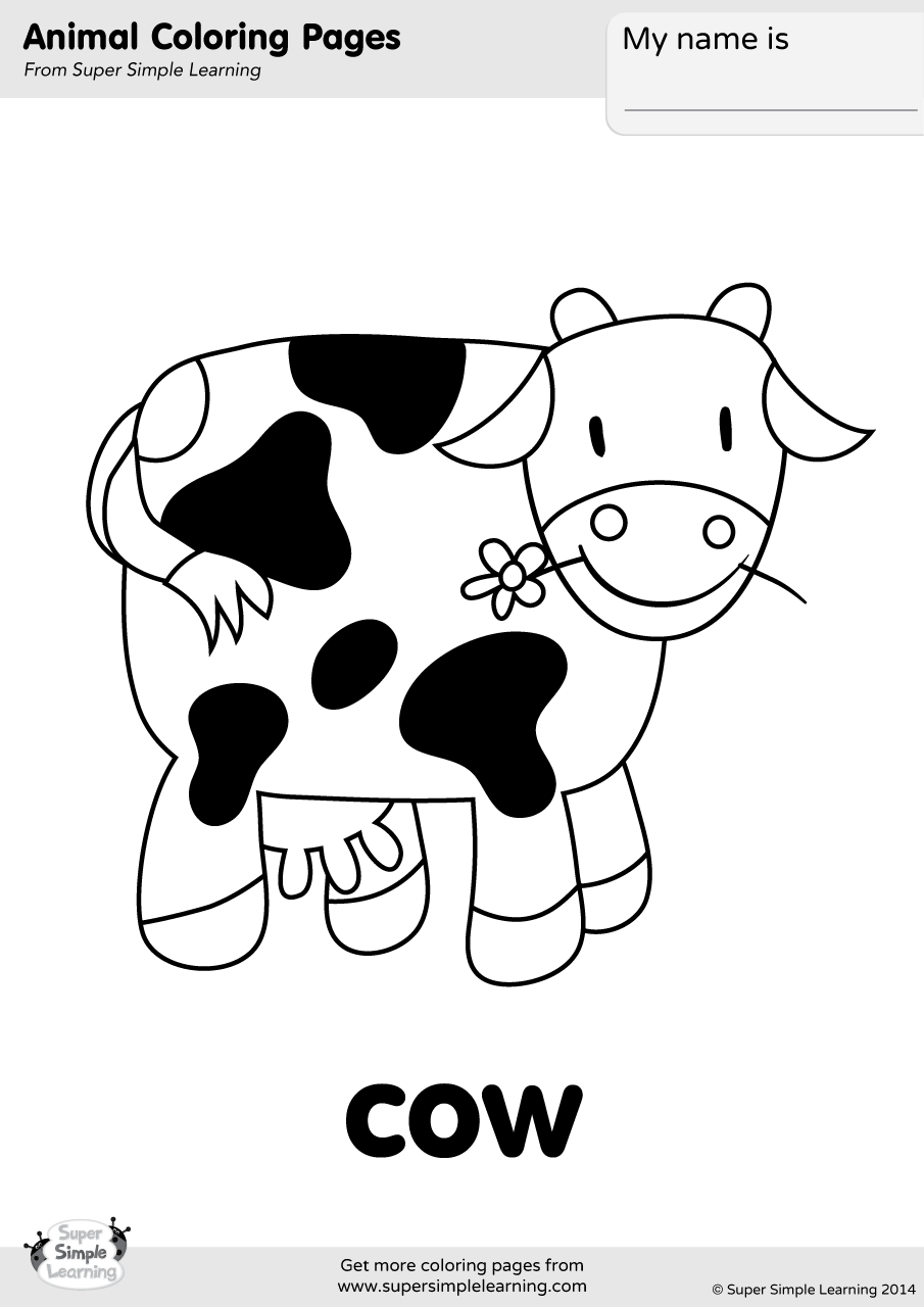 cow coloring pics cow drawing for kids at getdrawings free download coloring pics cow