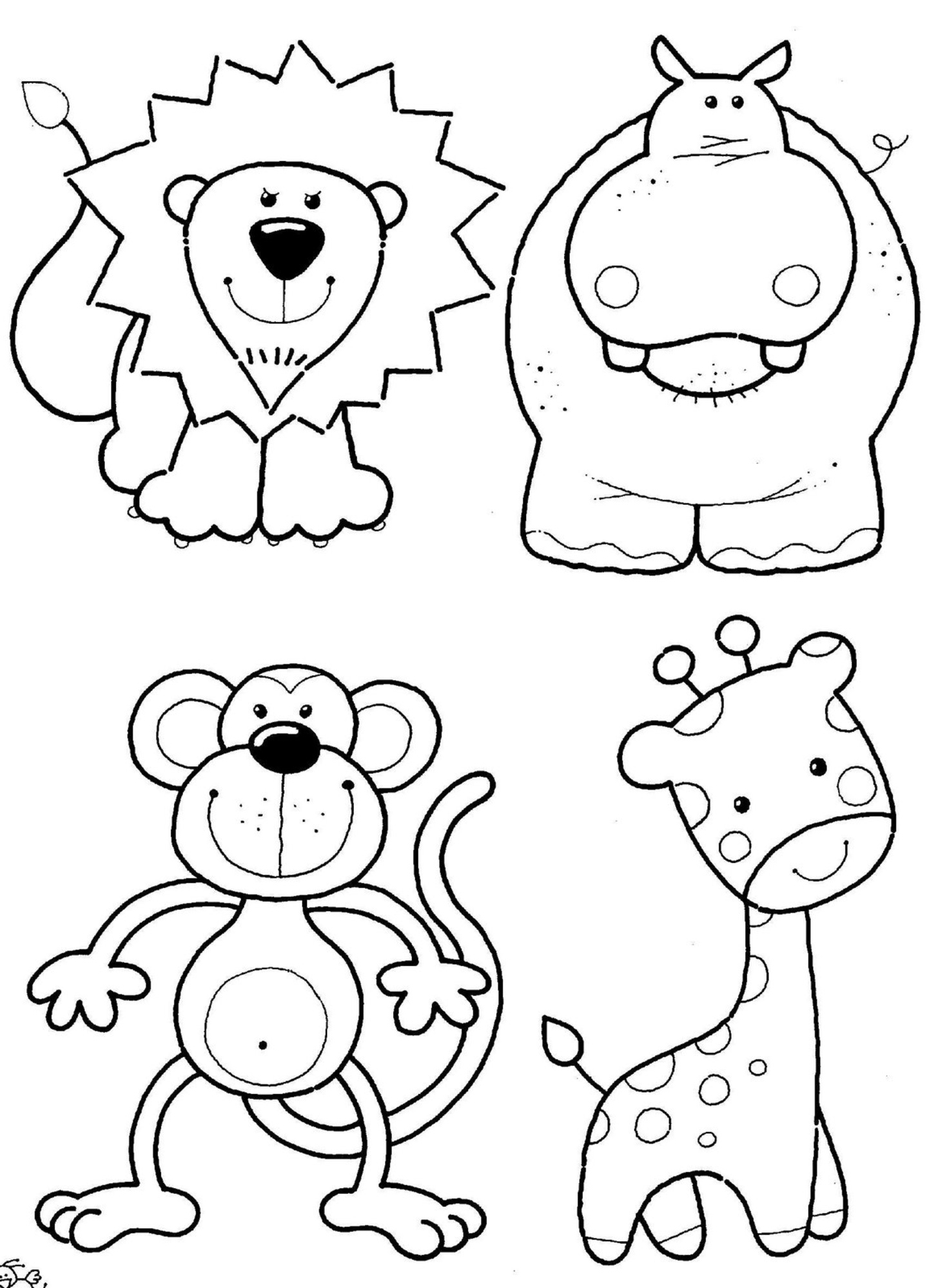 cute animals to colour in 30 inspiration image of cute animal coloring pages animals colour cute to in