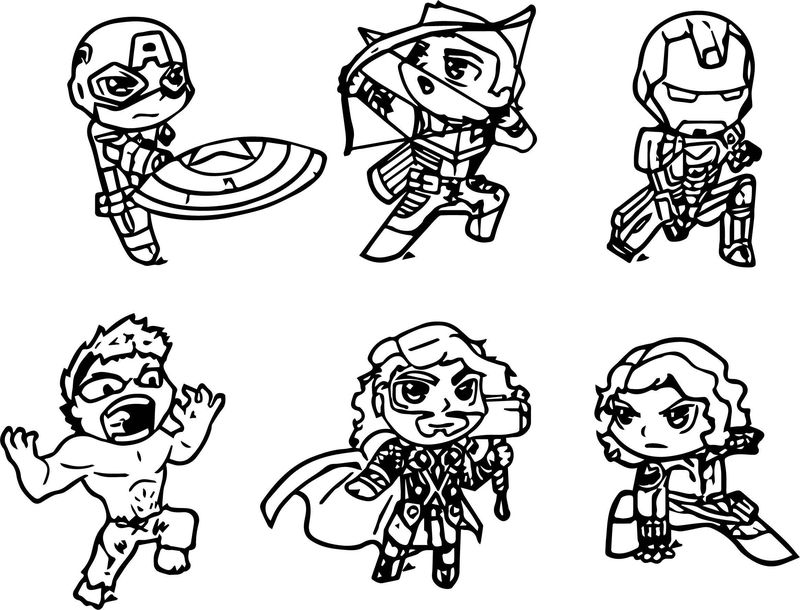 cute avengers coloring pages avengers chibi version by skulpin16 on deviantart coloring pages cute avengers