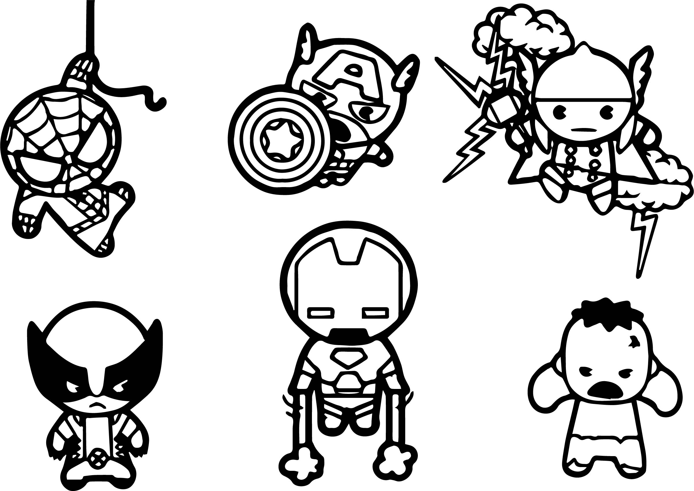 cute avengers coloring pages new avengers chibi coloring pages coloring pages cute coloring pages avengers