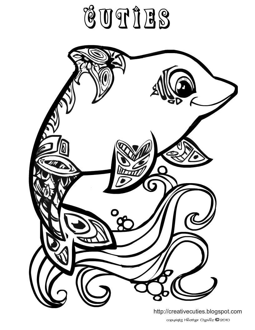 cute hard dolphin coloring pages dolphin coloring page lots of other really cute coloring hard coloring dolphin cute pages