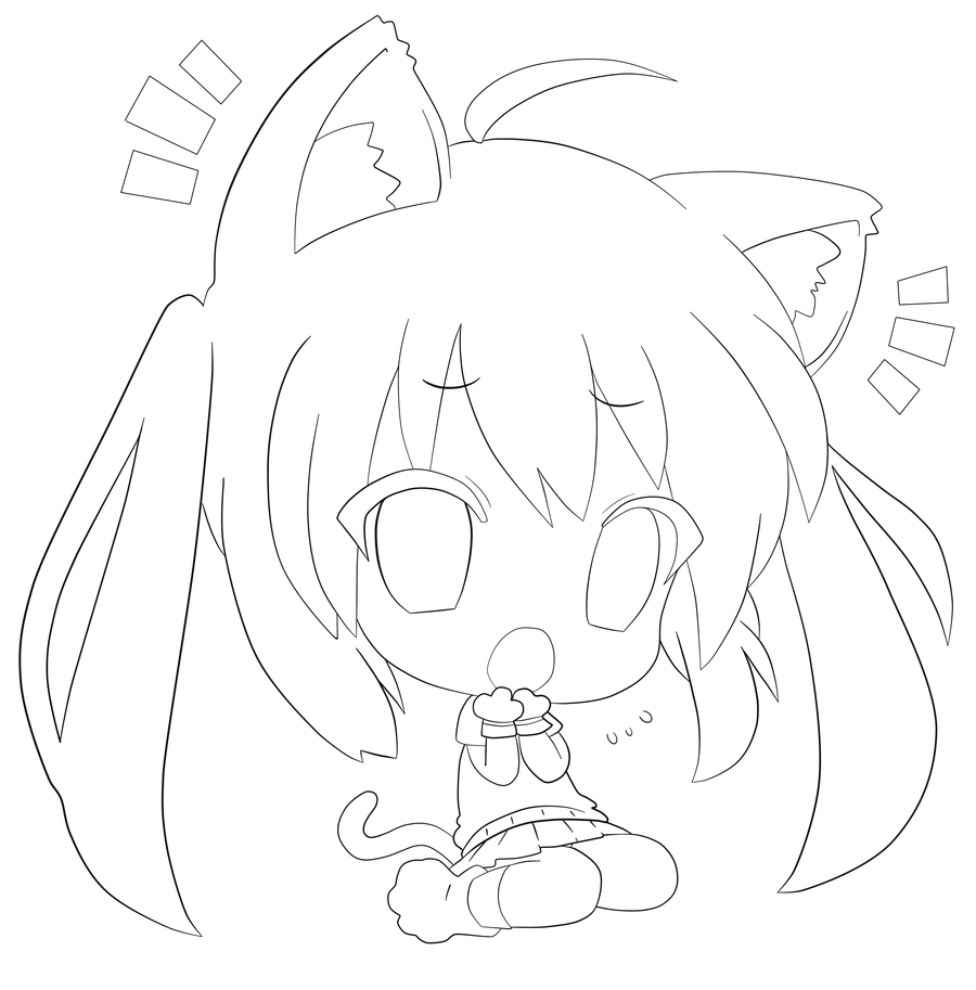 cute kawaii chibi coloring pages cute kawaii cute people mixed up with animals coloring coloring kawaii pages chibi cute