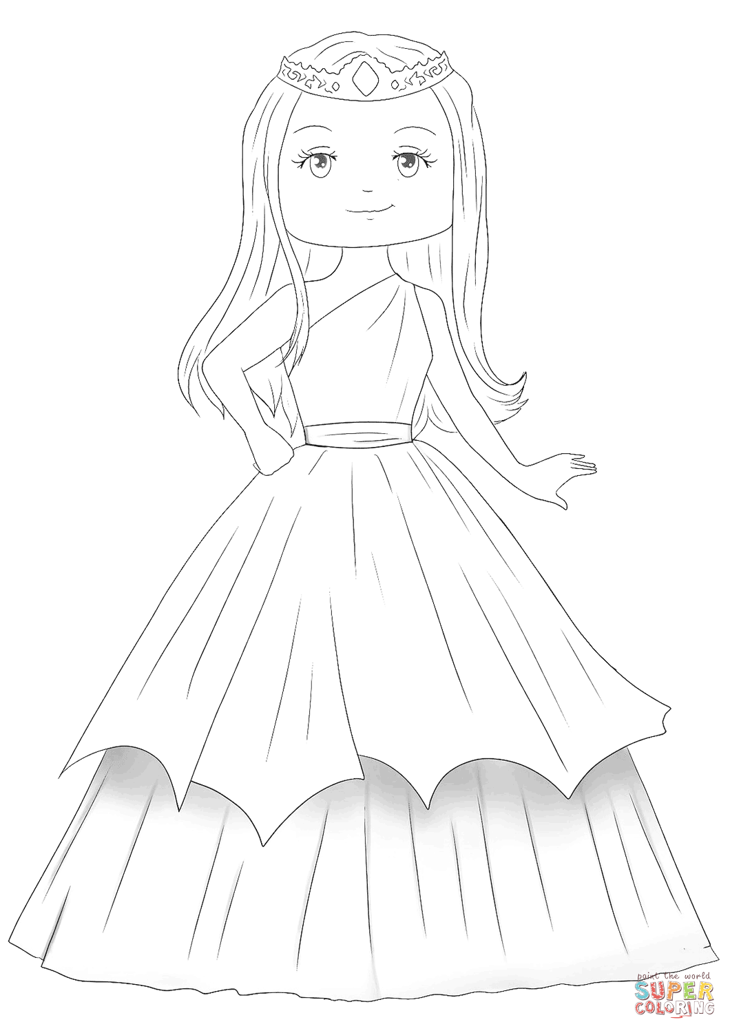cute kawaii princess coloring pages coloring pages cute princess super duper coloring kawaii princess cute coloring pages
