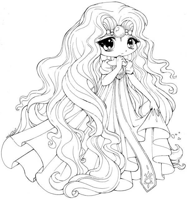 cute kawaii princess coloring pages cute chibi drawing at getdrawings free download pages coloring princess kawaii cute