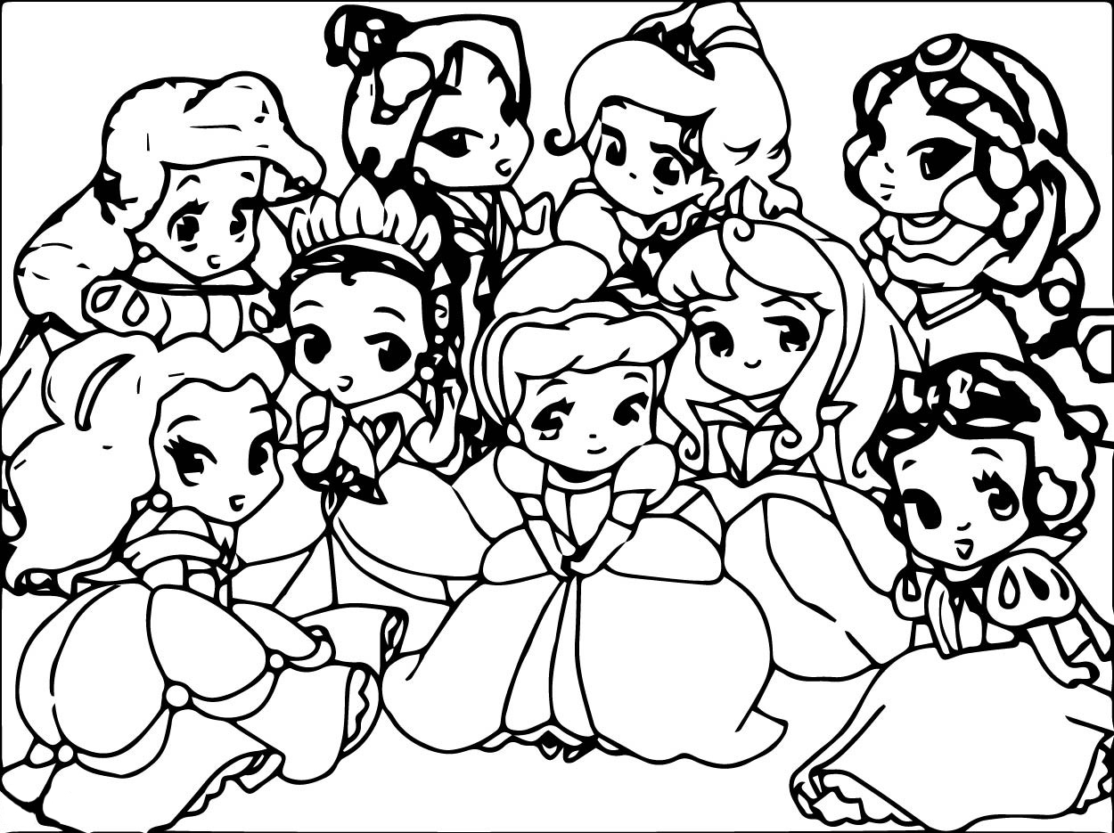 cute kawaii princess coloring pages kawaii disney princess snow white coloring pages printable cute pages coloring princess kawaii