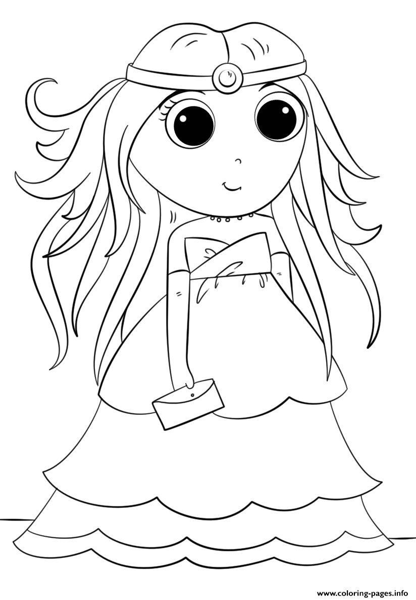 cute kawaii princess coloring pages princess with fish kawaii coloring pages printable kawaii pages cute coloring princess