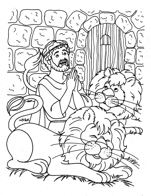 daniel coloring page daniel praying three times a day in daniel and the lions coloring page daniel