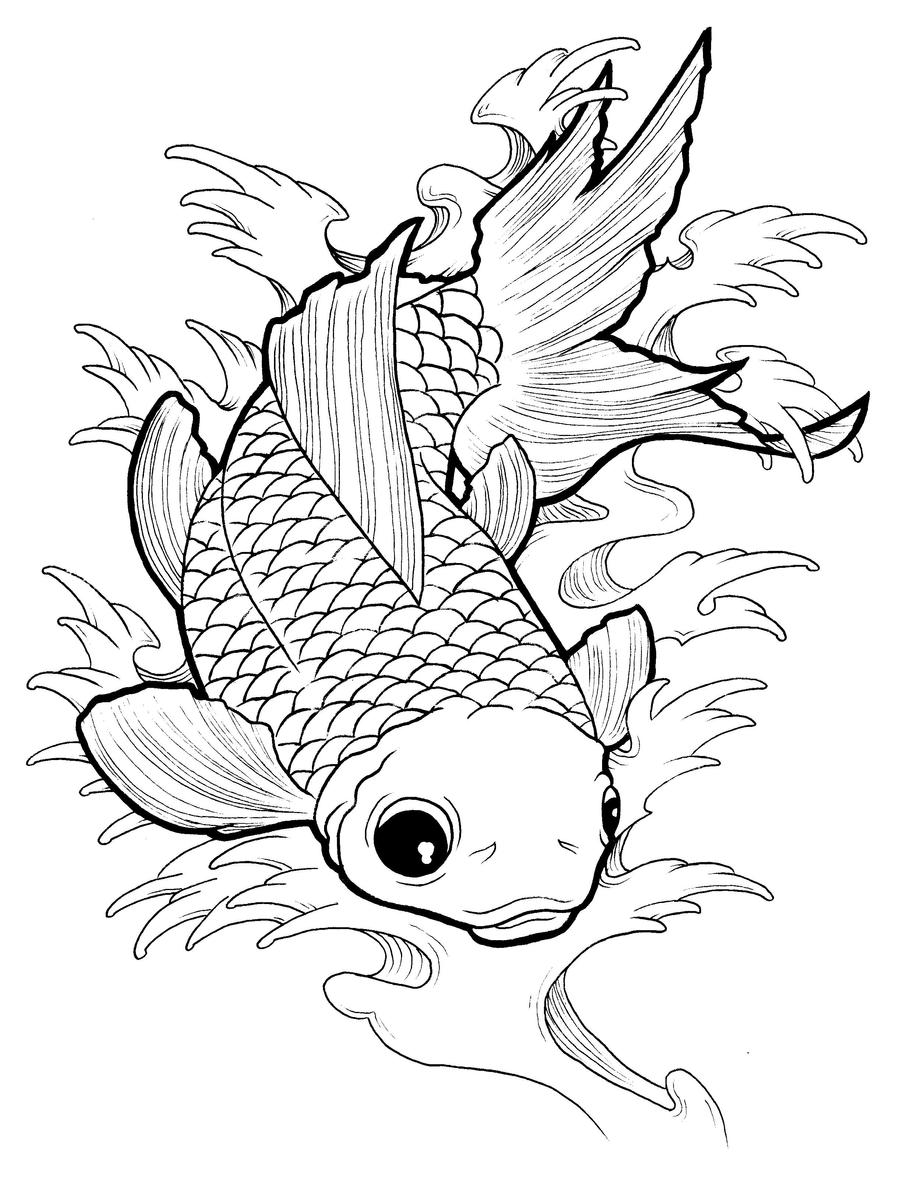 dead fish coloring pages dead fish drawing at getdrawingscom free for personal fish pages dead coloring