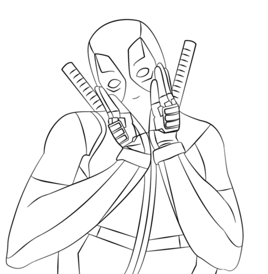deadpool coloring deadpool coloring pages sketch coloring page coloring deadpool