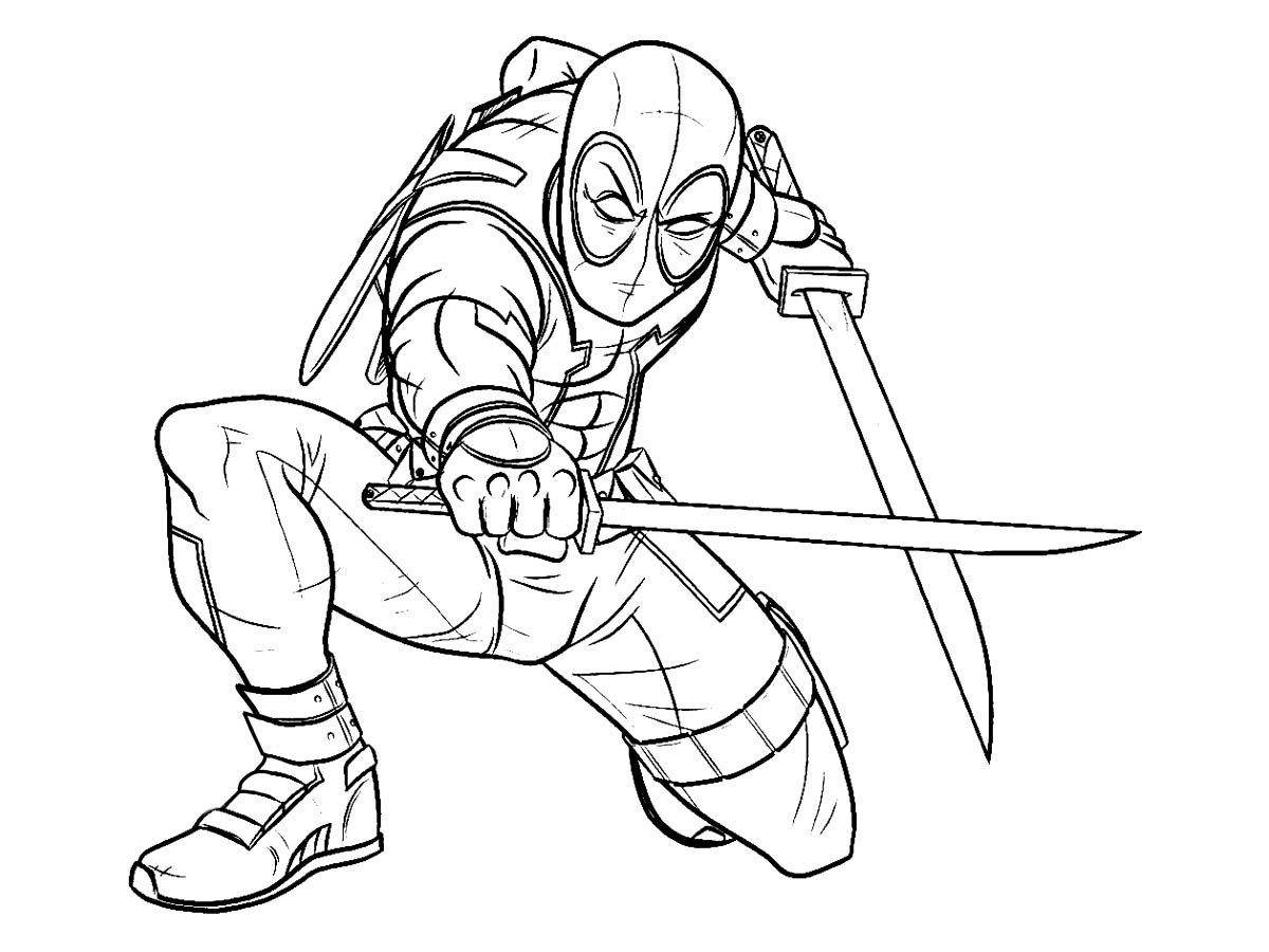 deadpool coloring deadpool printable coloring pages at getdrawings free coloring deadpool