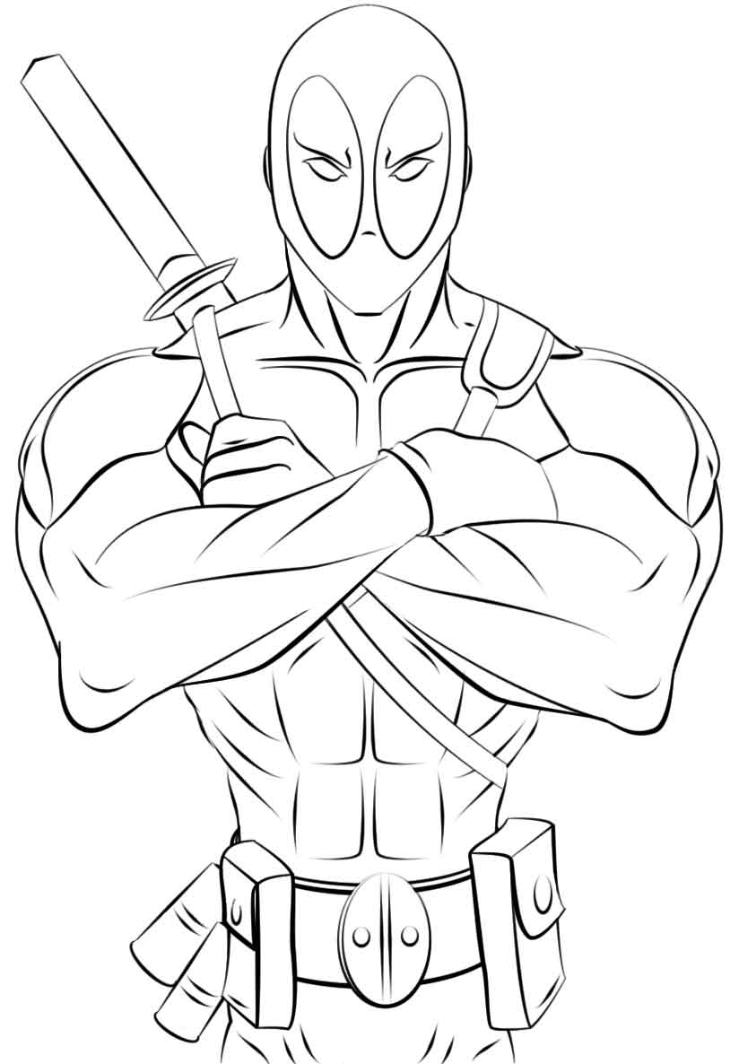 deadpool coloring easy deadpool coloring pages to print for kids printable coloring deadpool
