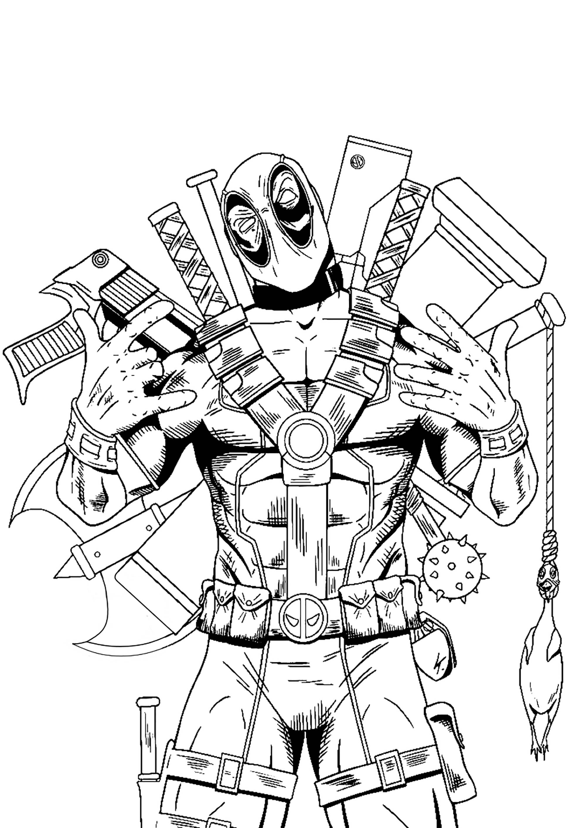deadpool coloring free printable deadpool coloring pages for kids coloring deadpool