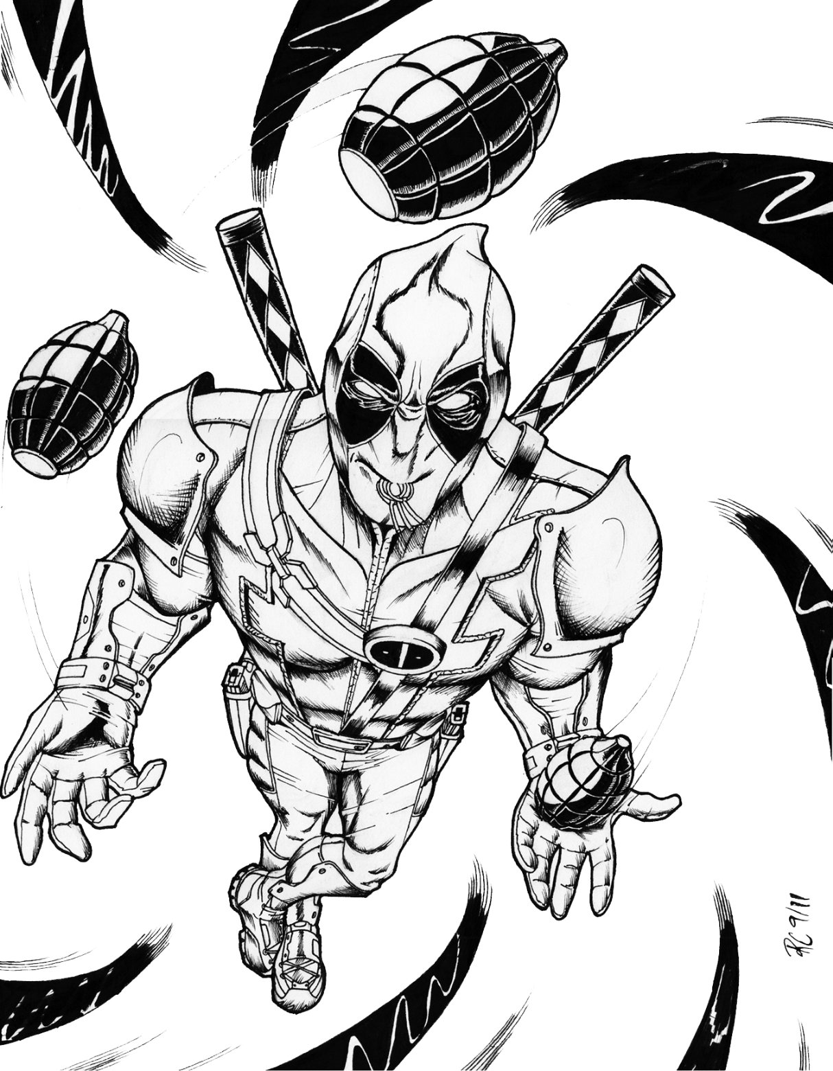 deadpool coloring free printable deadpool coloring pages for kids deadpool coloring 1 1