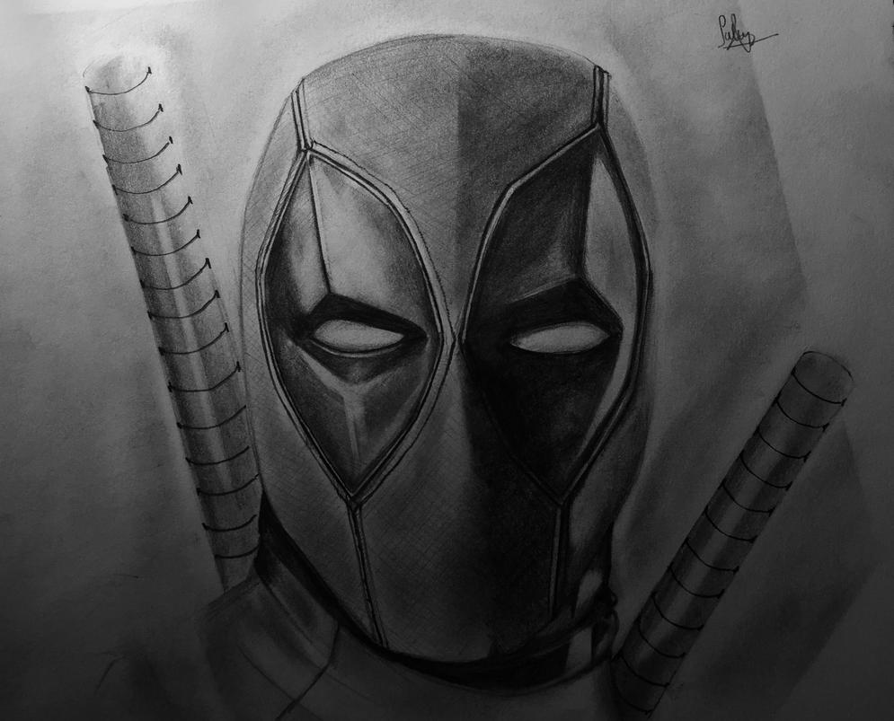 deadpool sketch black deadpoolquot graphite pencils a4 smooth bristol deadpool sketch