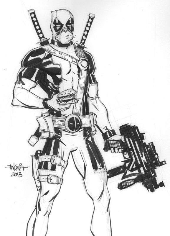 deadpool sketch deadpool by spikemcfly on deviantart sketch deadpool