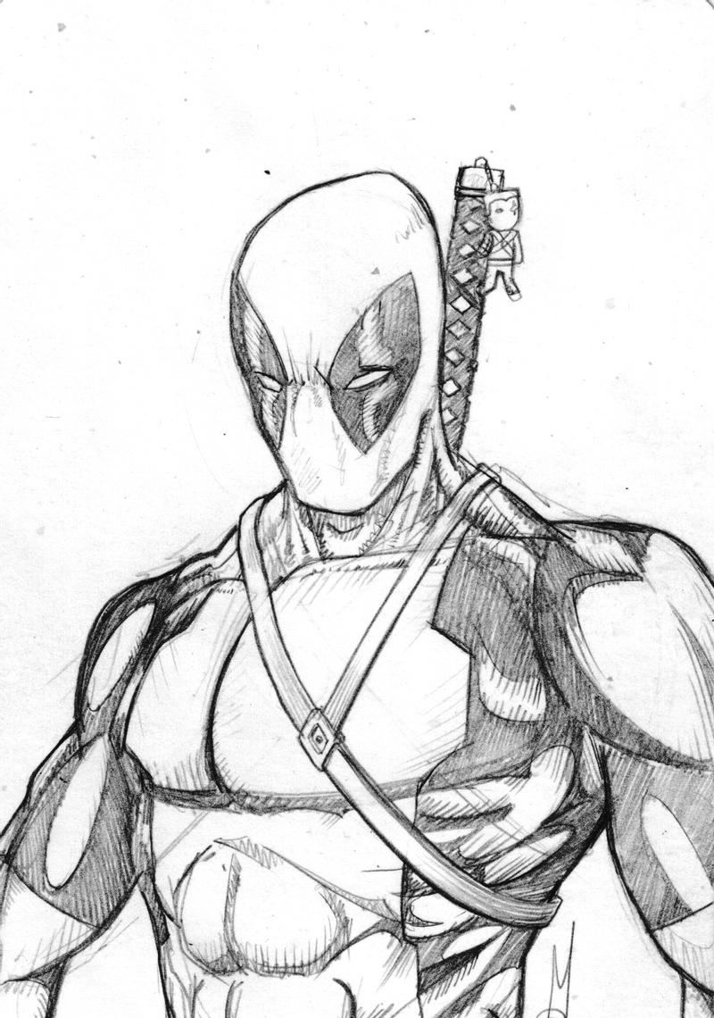 deadpool sketch deadpool by tricepterry on deviantart deadpool sketch