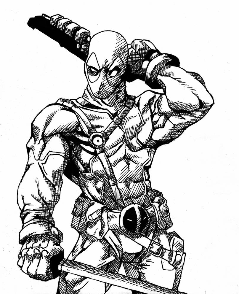 deadpool sketch deadpool drawing in pencil full body at getdrawings free sketch deadpool