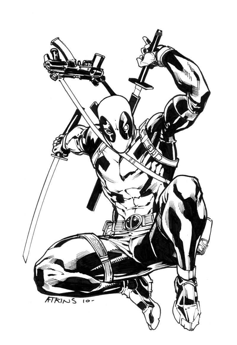 deadpool sketch deadpool drawing pencil sketch colorful realistic art sketch deadpool