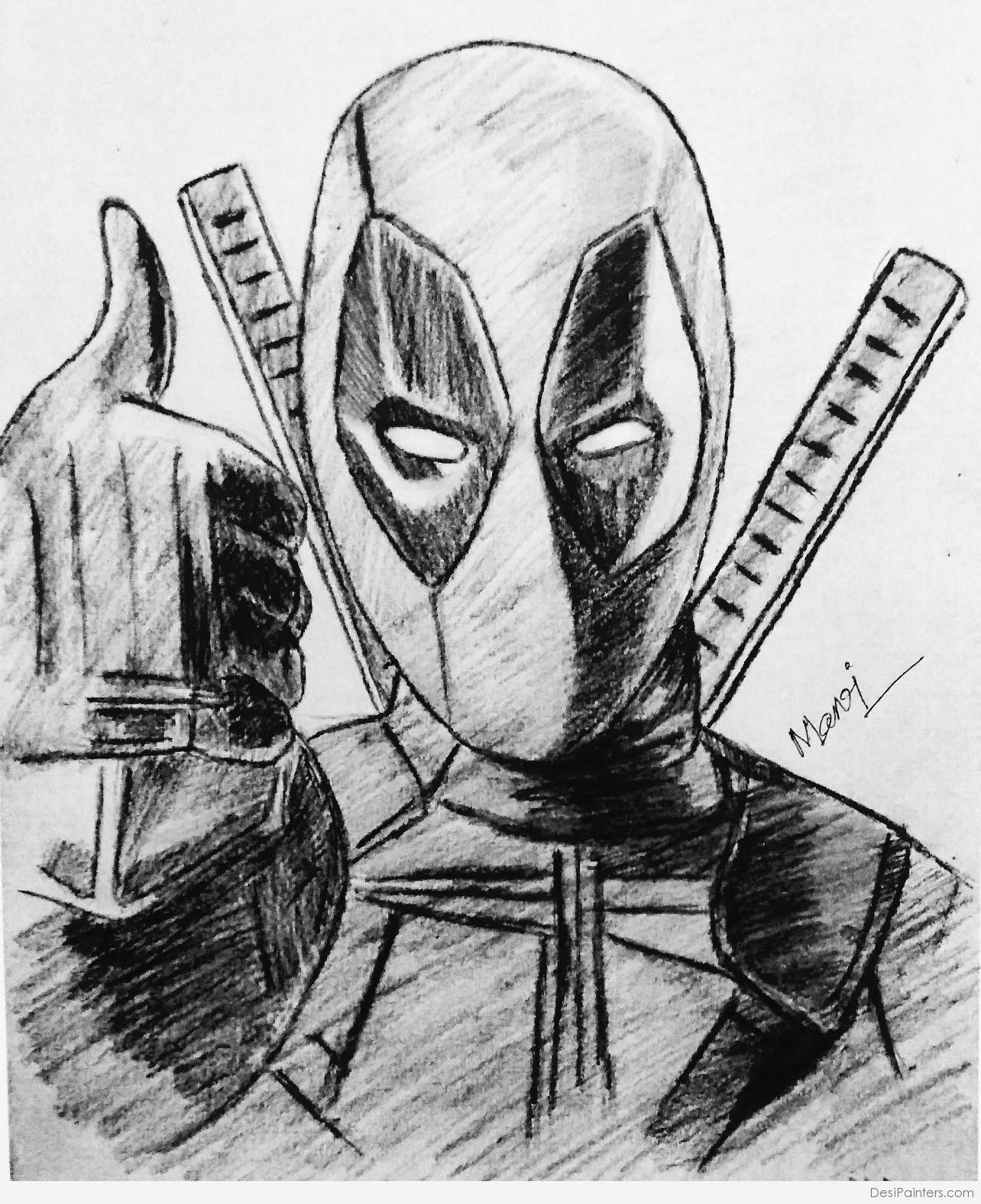 deadpool sketch deadpool fan art nycc 2013 sketch deadpool ink by sketch deadpool