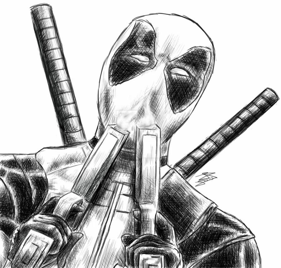 deadpool sketch deadpool sketch by mariawinder on deviantart sketch deadpool