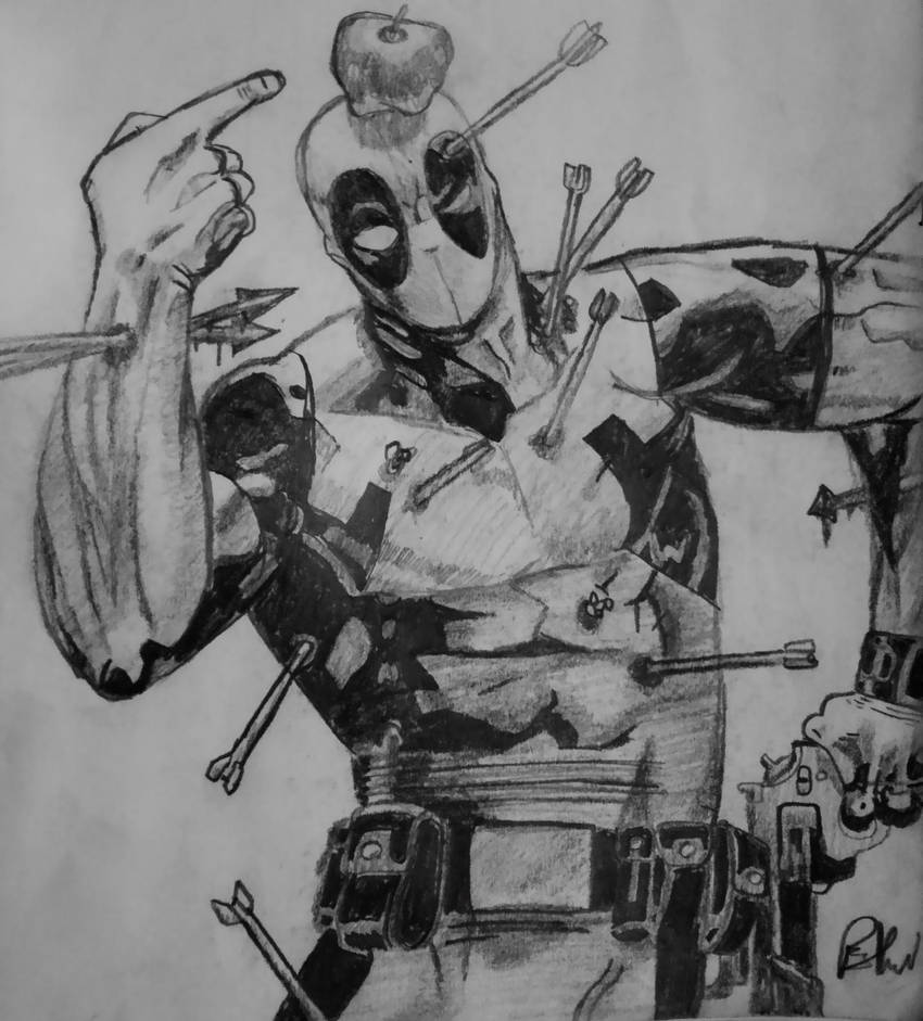 deadpool sketch deadpool up for auction by reillybrown on deviantart deadpool sketch