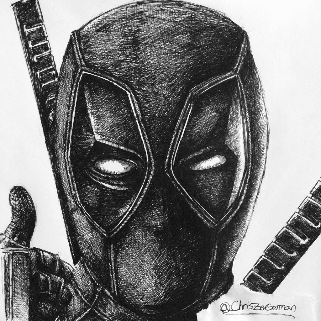 deadpool sketch draw deadpool how to draw with quick simple easy steps deadpool sketch