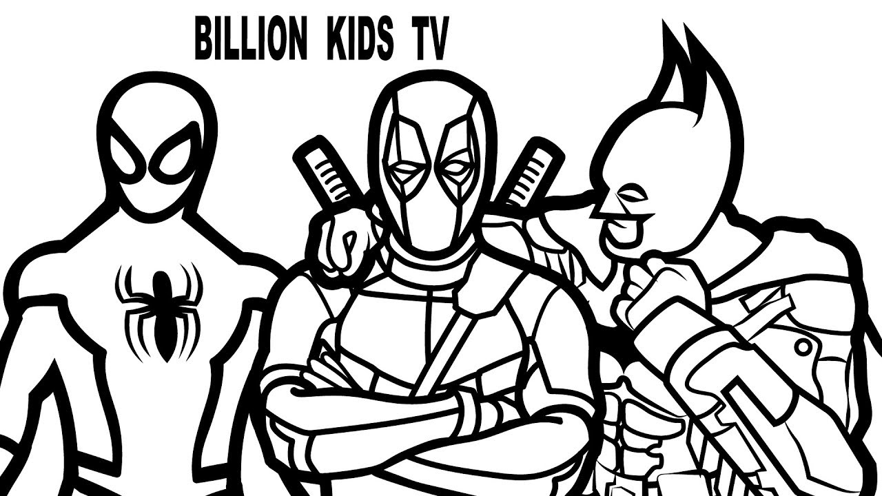 deadpool to color deadpool coloring pages for kids at getdrawingscom free deadpool to color