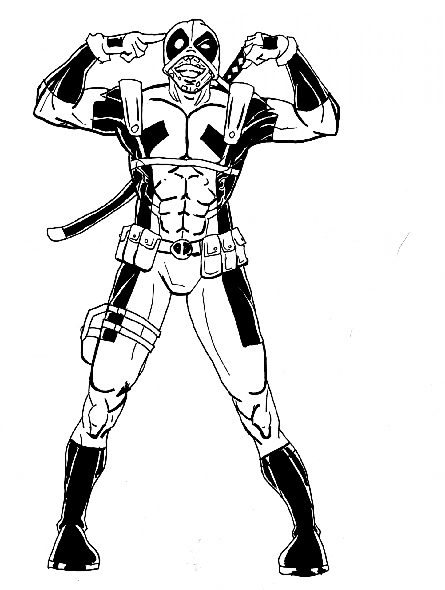 deadpool to color deadpool coloring pages free download on clipartmag color to deadpool