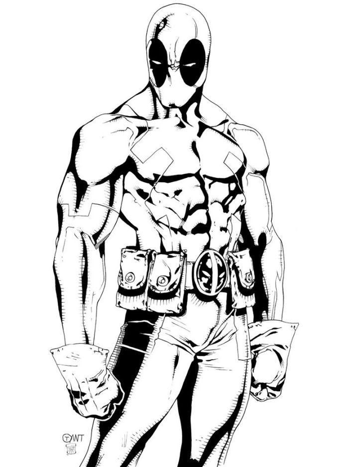 deadpool to color deadpool printable coloring pages at getdrawings free to color deadpool