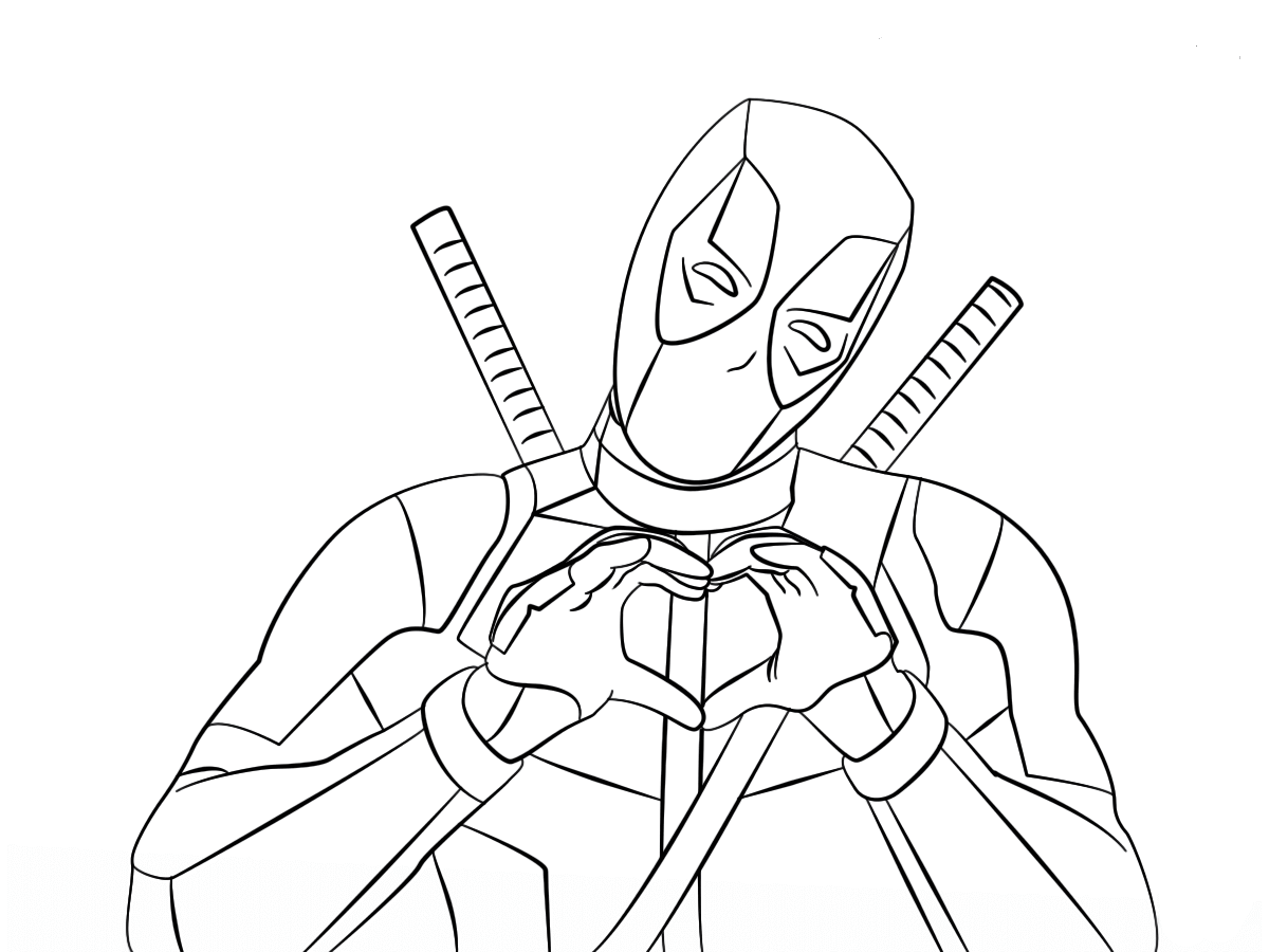 deadpool to color free printable deadpool coloring pages color deadpool to
