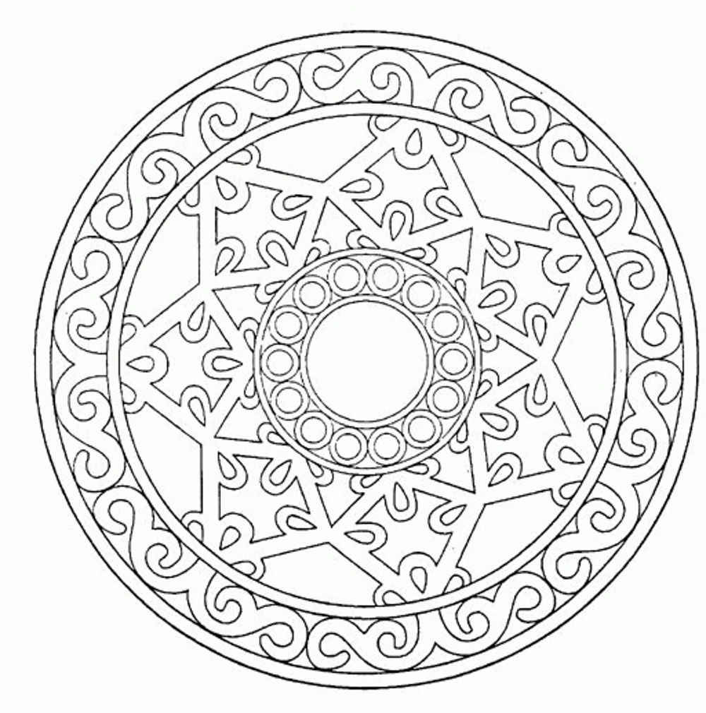 detailed mandala coloring pages coloring to calm volume one mandalas pages mandala detailed coloring