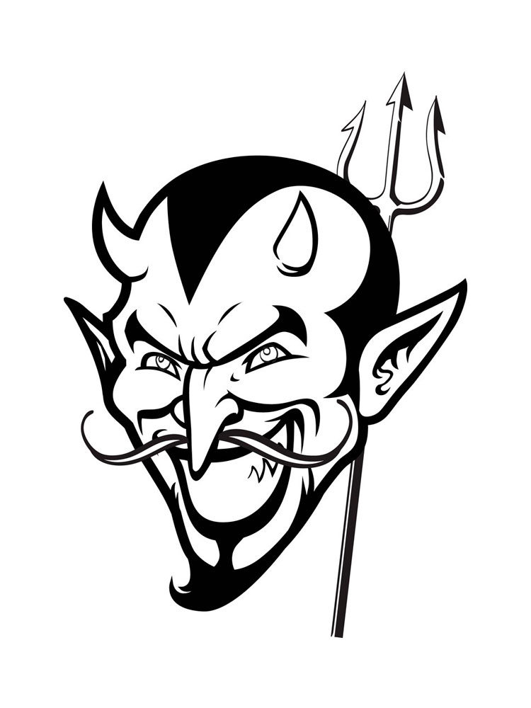 devil coloring pages scary coloring pages for kids at getdrawings free download pages devil coloring